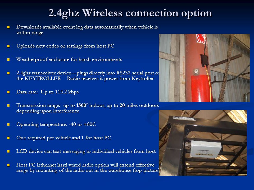 2.4ghz Wireless connection option