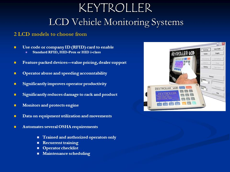 KEYTROLLER LCD Vehicle Monitoring Systems