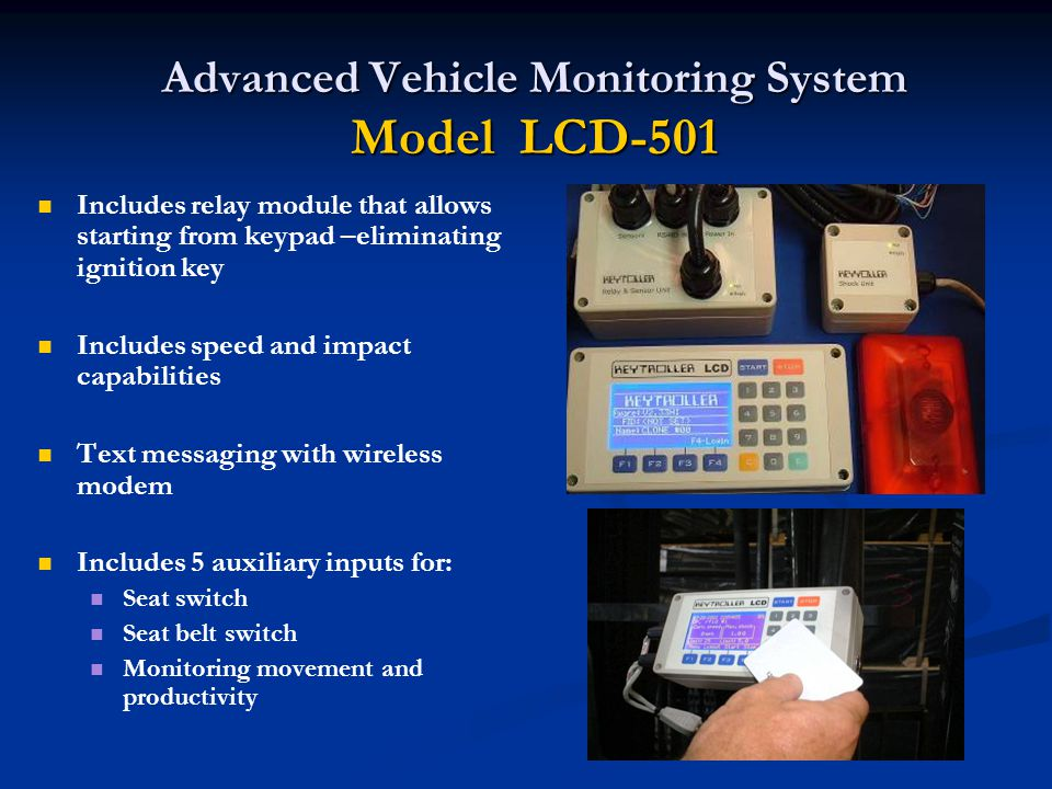 Advanced Vehicle Monitoring System Model LCD-501