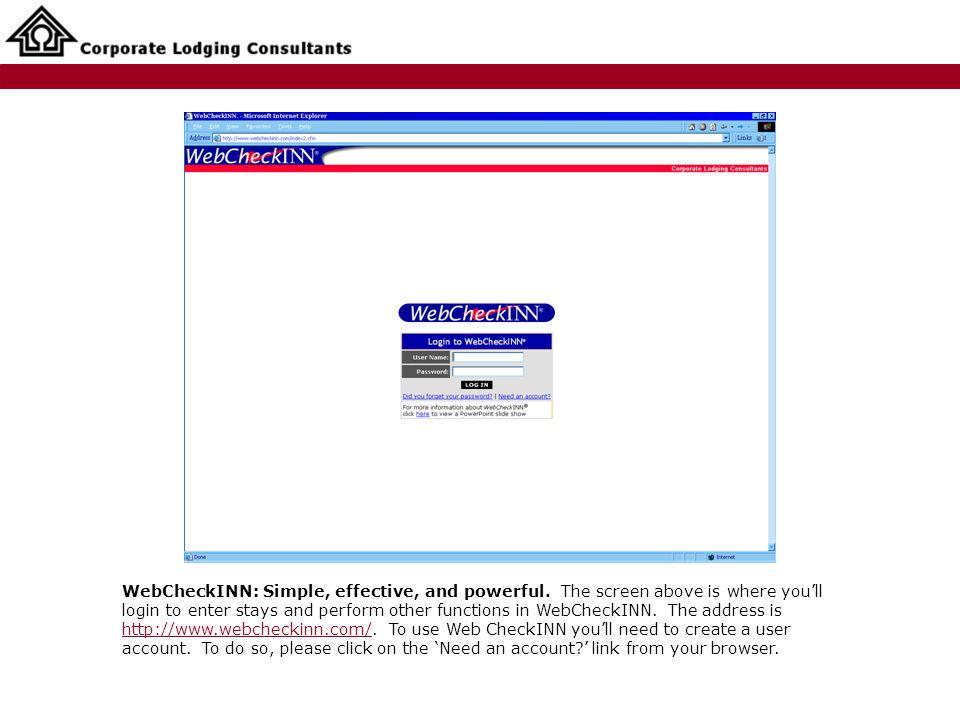 WebCheckINN: Simple, effective, and powerful