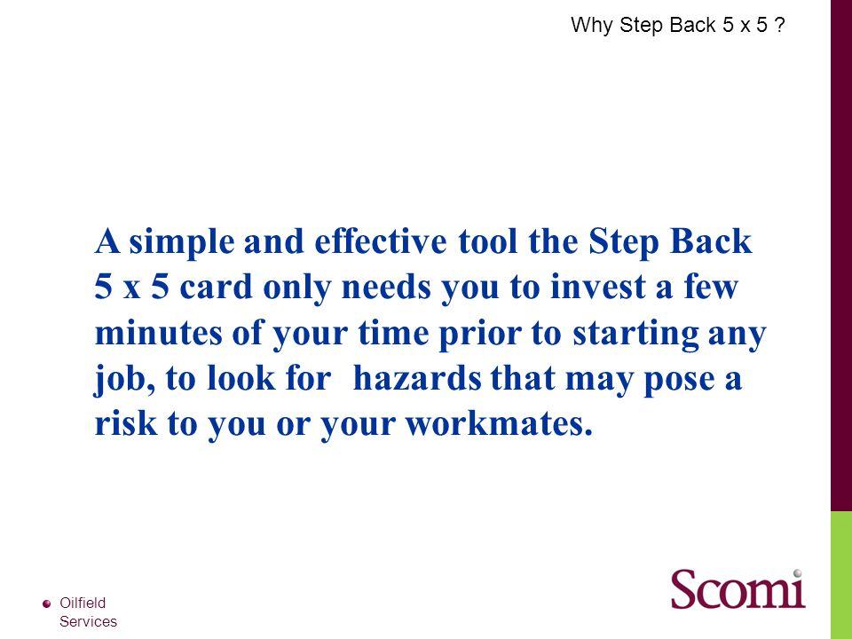 Why Step Back 5 x 5