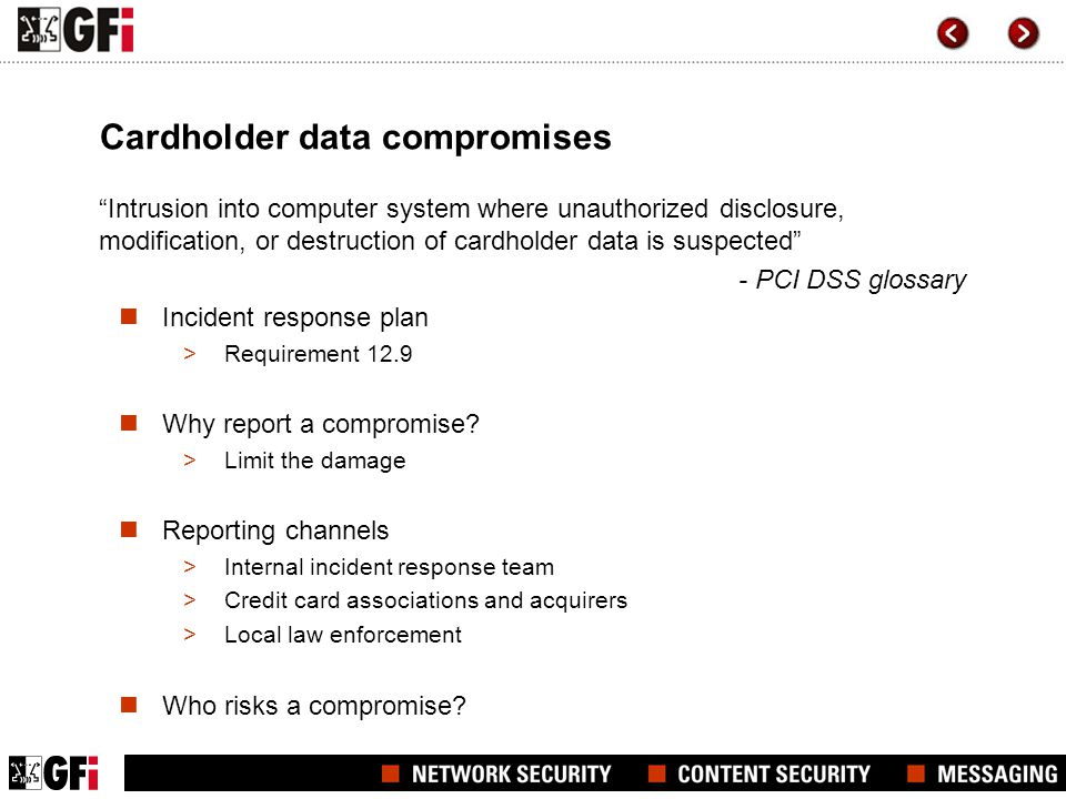 Cardholder data compromises