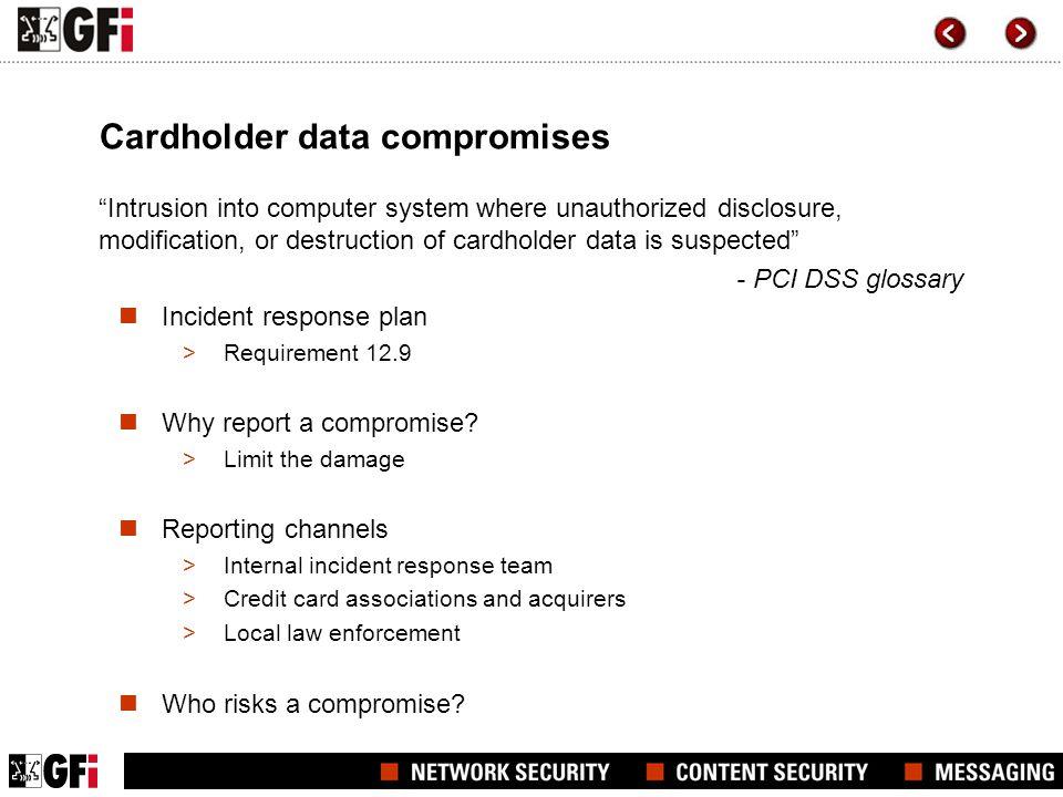 Cardholder data compromises
