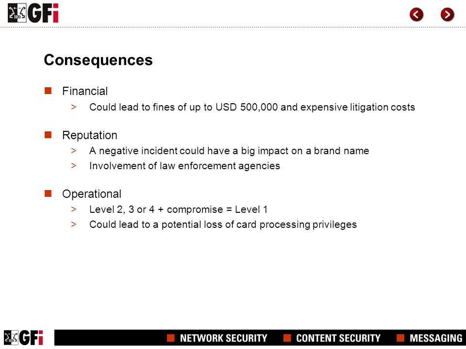 Consequences Financial Reputation Operational