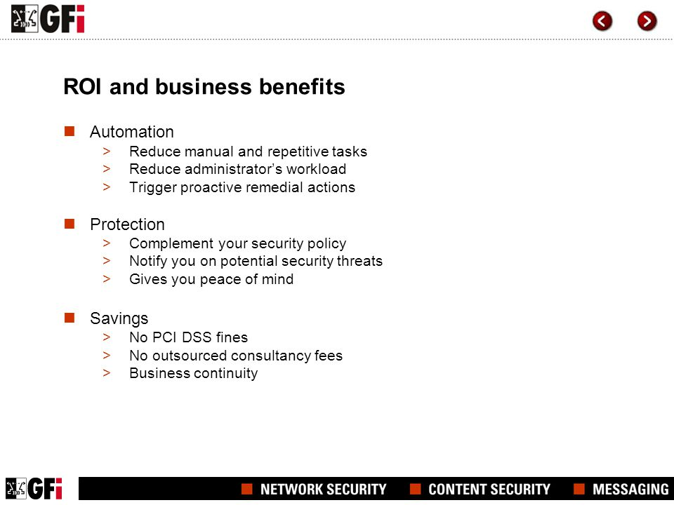 ROI and business benefits
