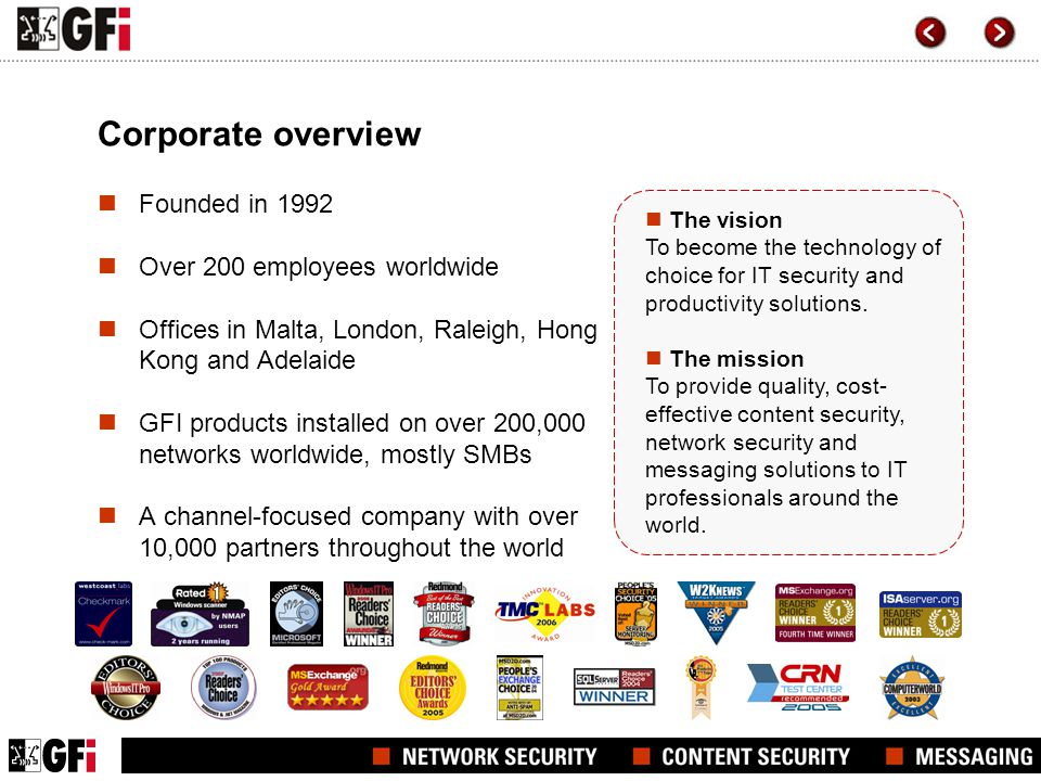 Corporate overview Founded in 1992 Over 200 employees worldwide