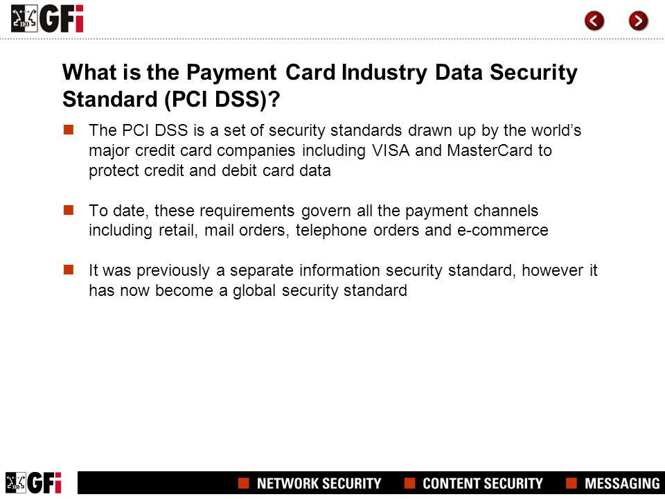 What is the Payment Card Industry Data Security Standard (PCI DSS)