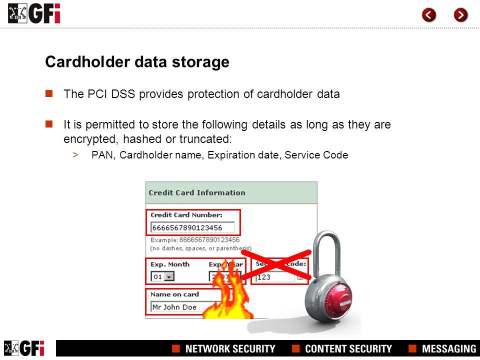 Cardholder data storage