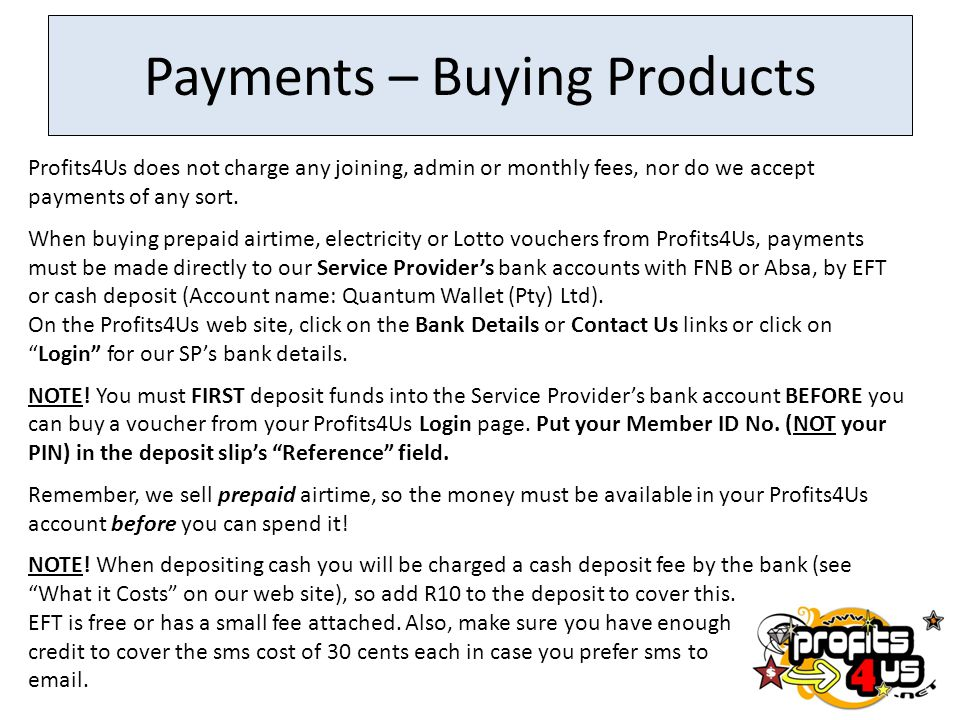 Payments – Buying Products