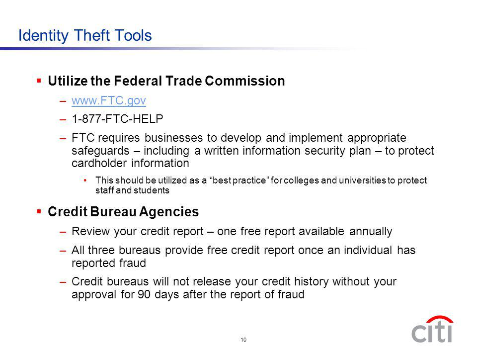Identity Theft Tools Utilize the Federal Trade Commission