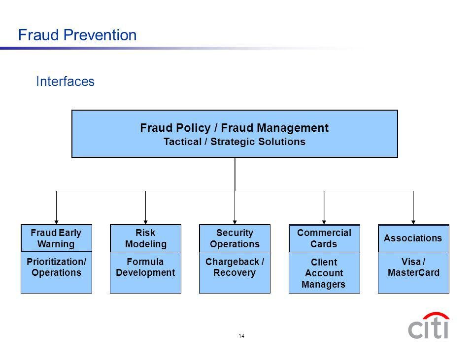 Fraud Prevention Interfaces