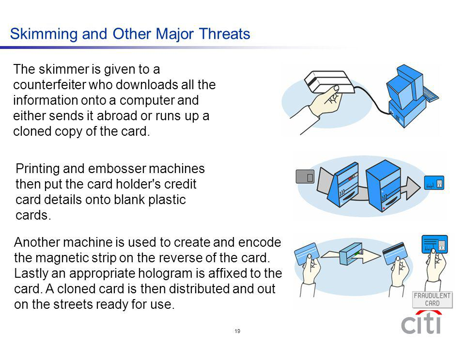 Skimming and Other Major Threats