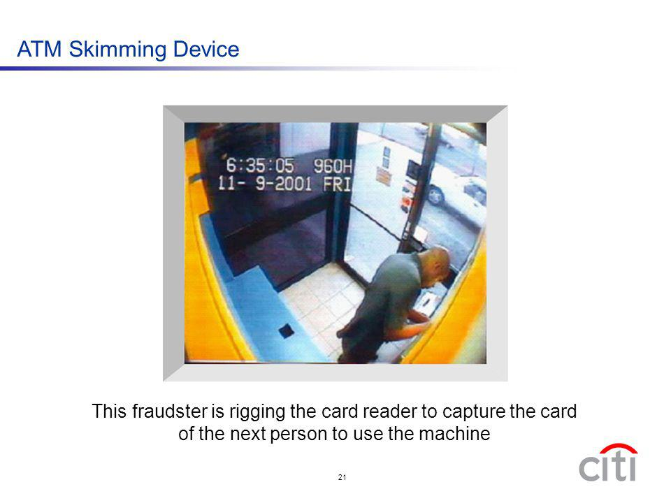 ATM Skimming Device An actual example of skimming :