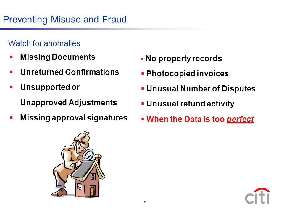 Preventing Misuse and Fraud