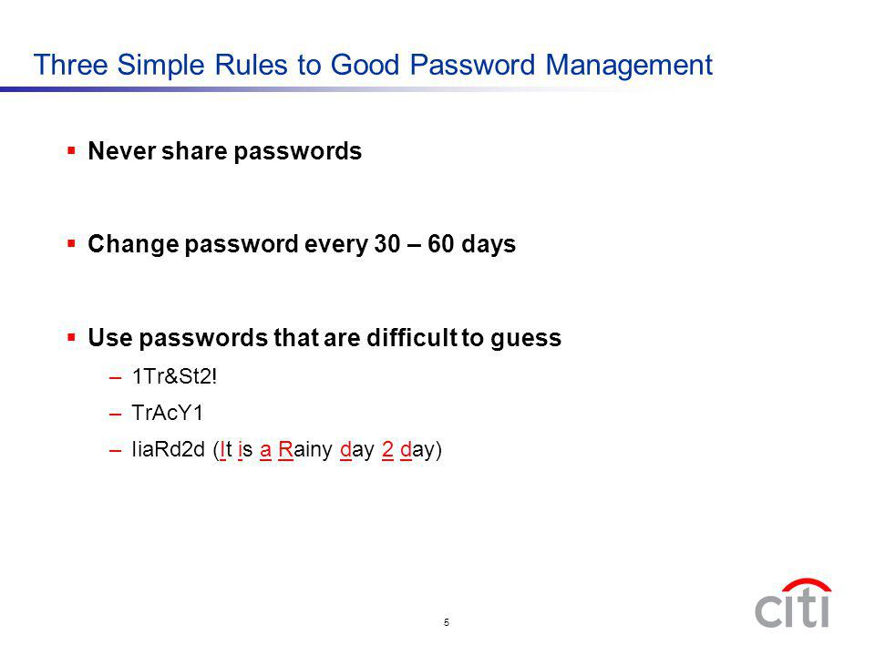 Three Simple Rules to Good Password Management