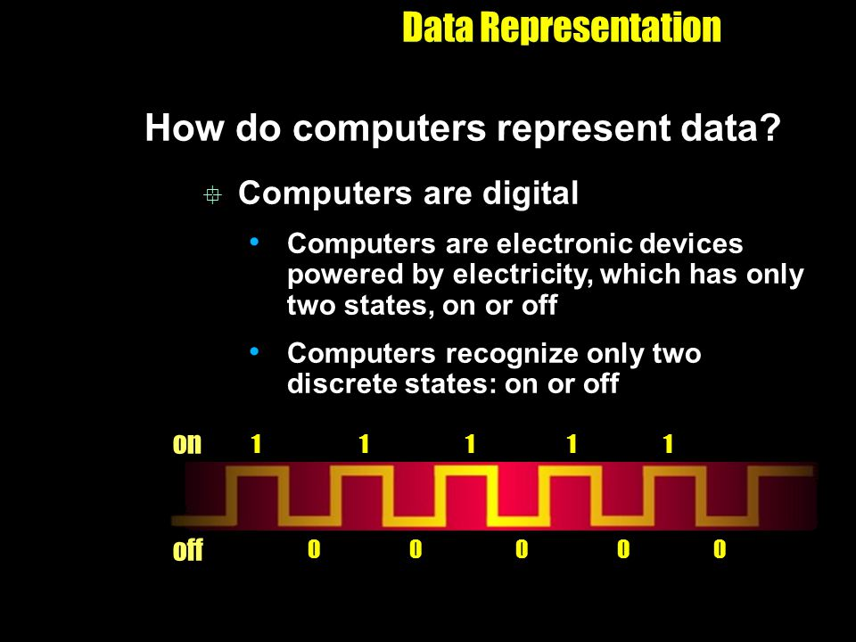 How do computers represent data