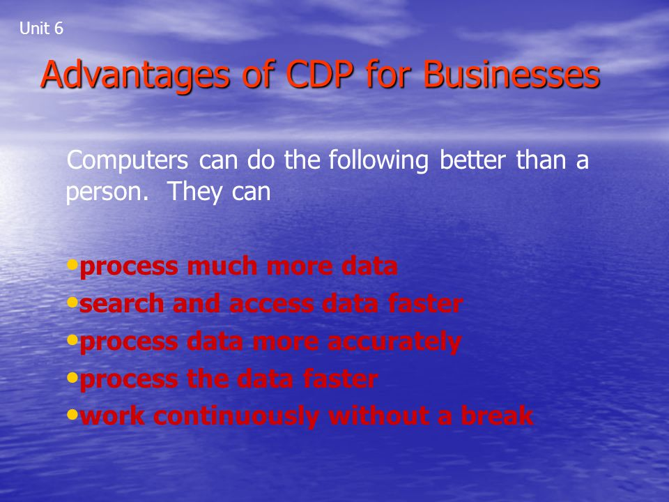 Advantages of CDP for Businesses