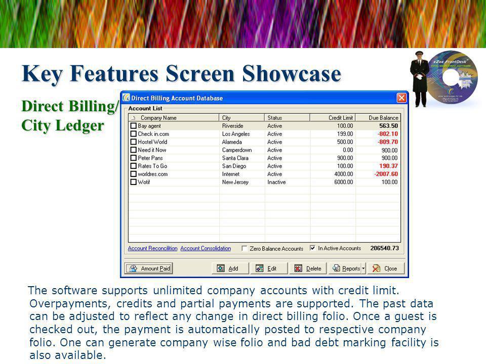 Key Features Screen Showcase