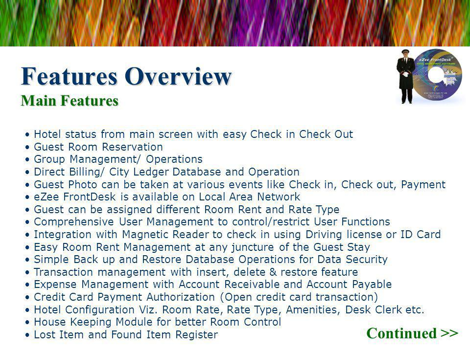 Features Overview Main Features