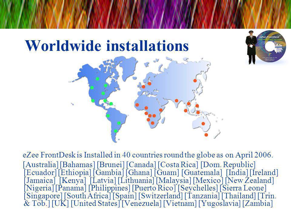 Worldwide installations