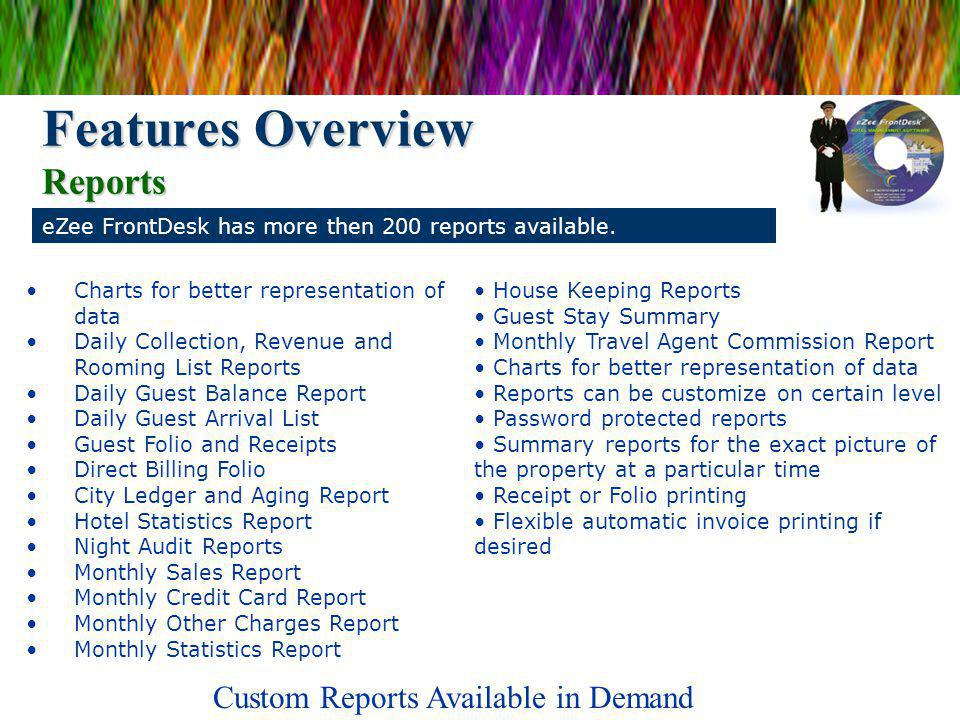 Features Overview Reports
