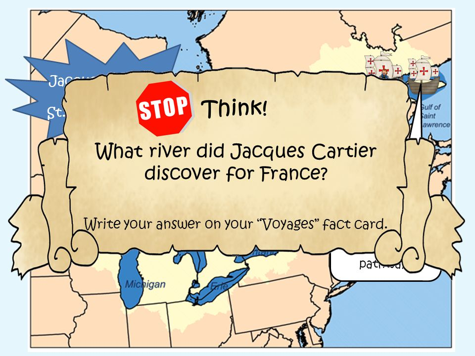 What river did Jacques Cartier discover for France