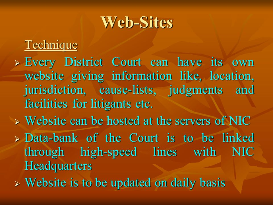 Web-Sites Technique.