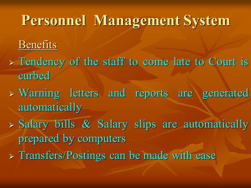 Personnel Management System