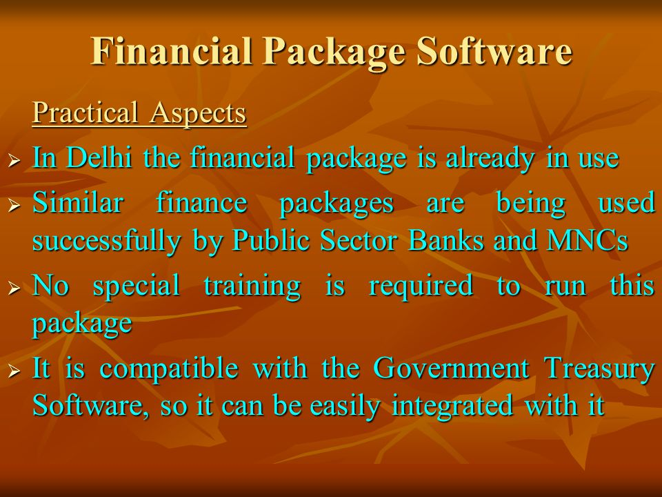 Financial Package Software