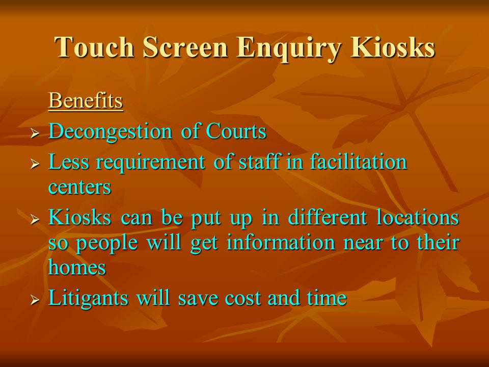 Touch Screen Enquiry Kiosks