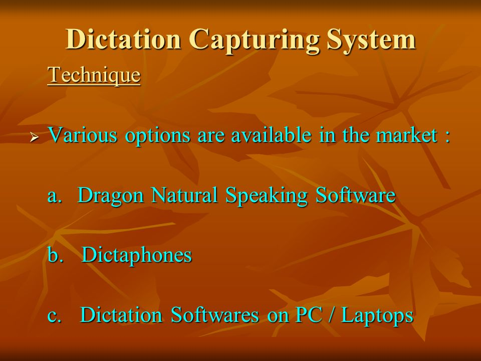 Dictation Capturing System