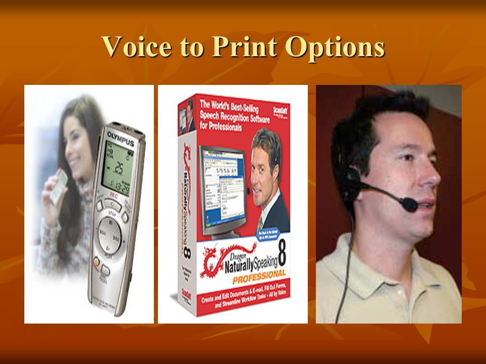 Voice to Print Options