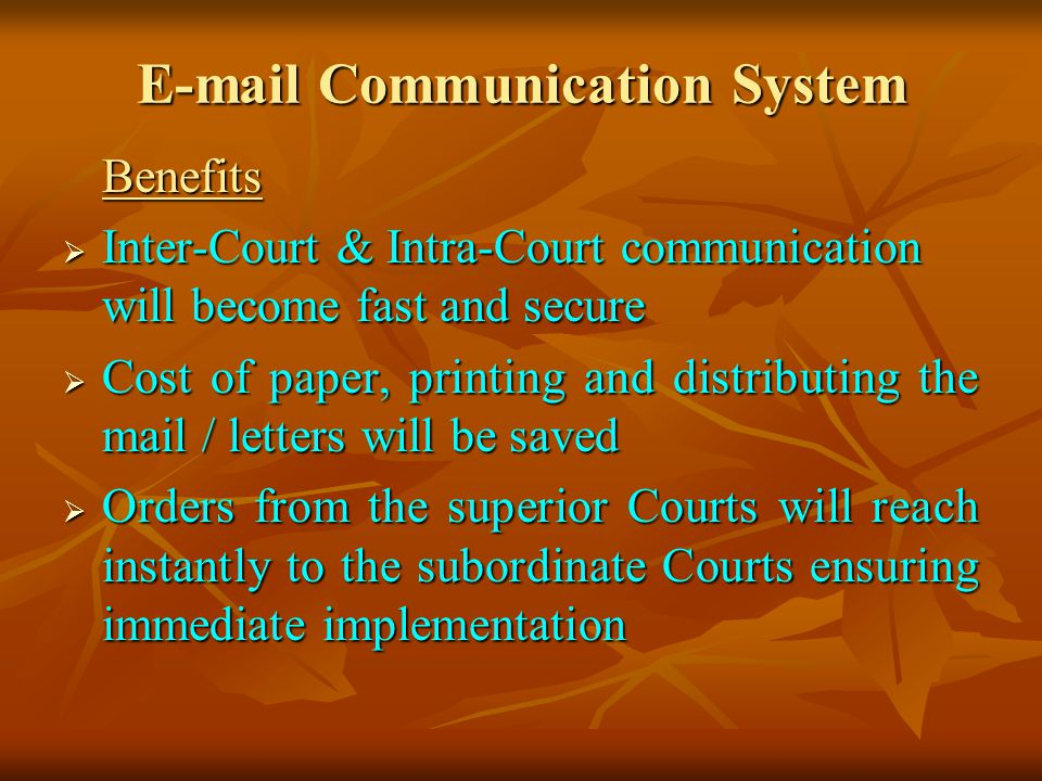 E-mail Communication System