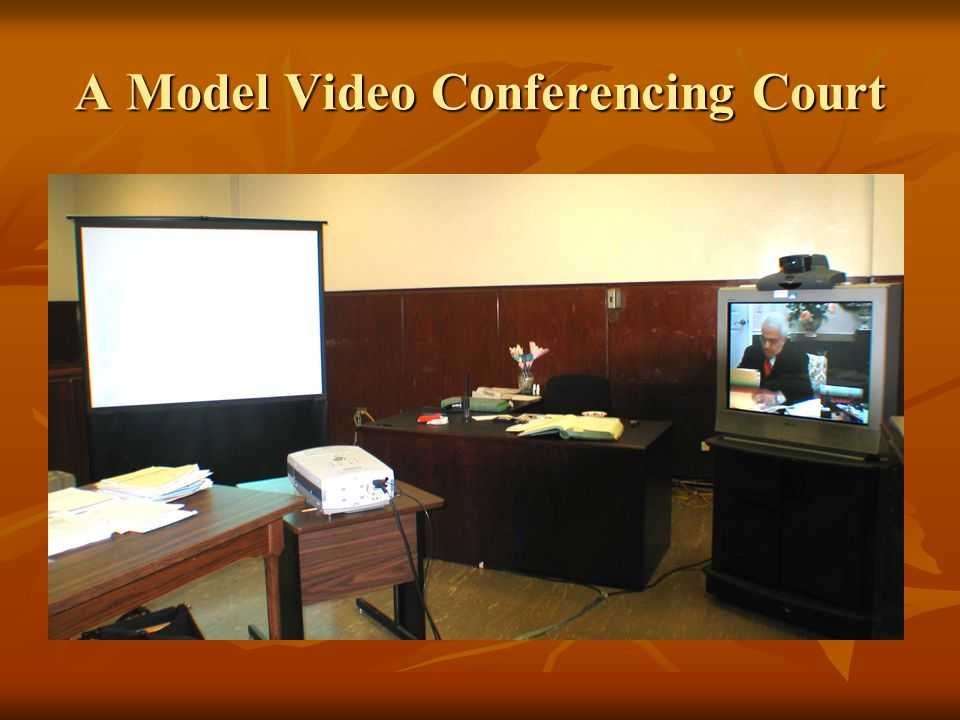 A Model Video Conferencing Court