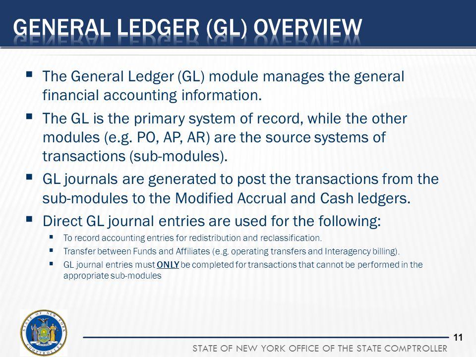 General Ledger (GL) overview