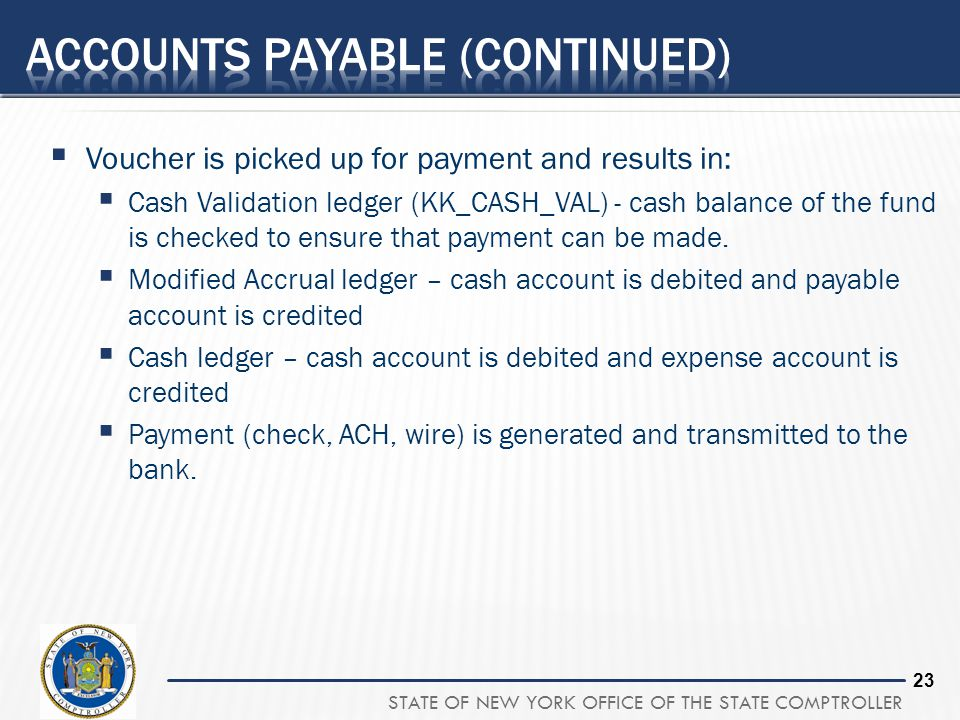 Accounts payable (continued)