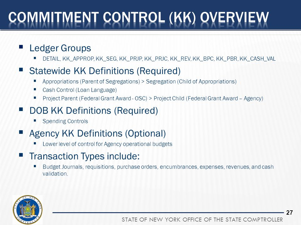 Commitment Control (KK) Overview