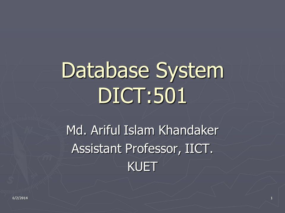 Md. Ariful Islam Khandaker Assistant Professor, IICT. KUET