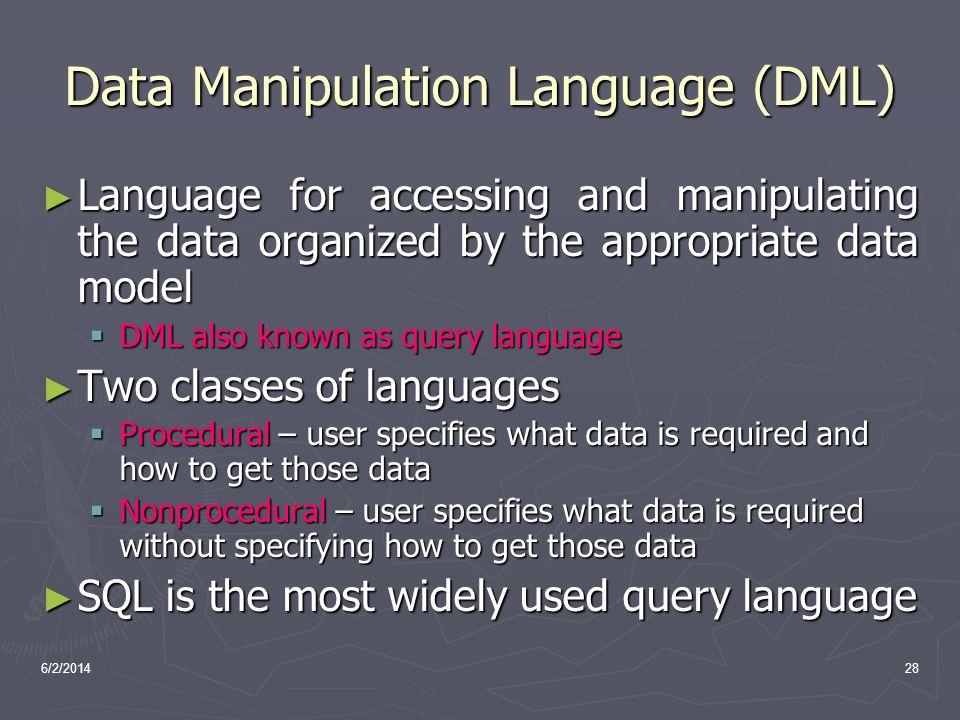 Data Manipulation Language (DML)