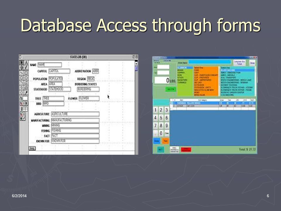Database Access through forms