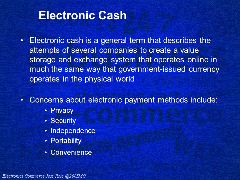 electronic cash graham dunsby essay View david kravitz's profile on linkedin  david kravitz, mac graham  off-line compatible electronic cash method and system.