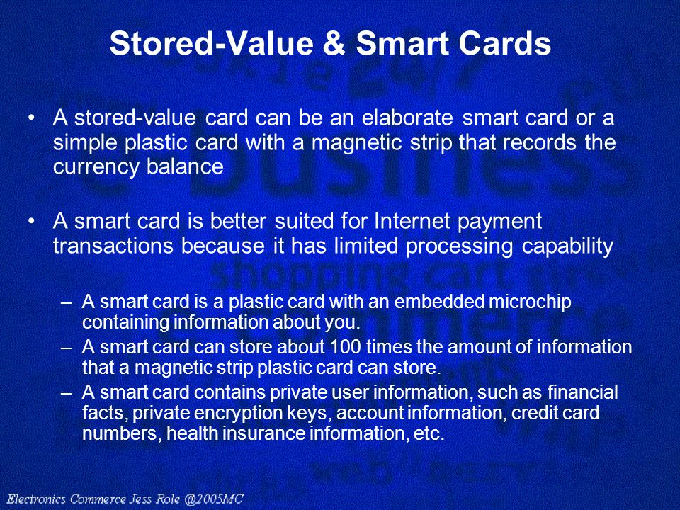 Stored-Value & Smart Cards