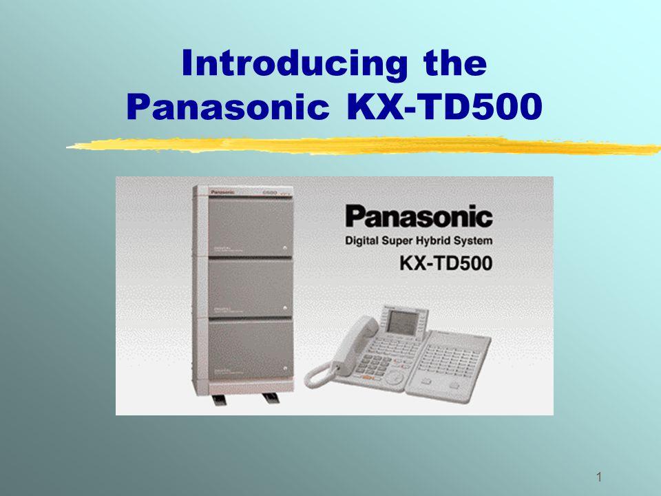 Introducing the Panasonic KX-TD500