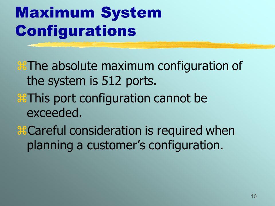 Maximum System Configurations