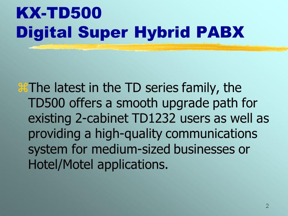 KX-TD500 Digital Super Hybrid PABX