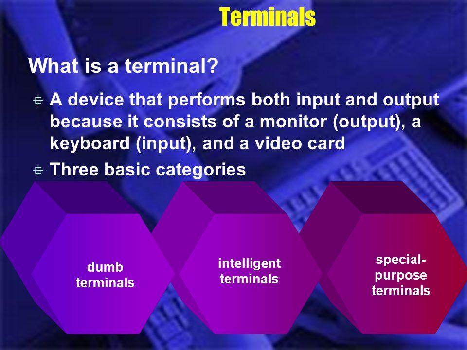 intelligent terminals special-purpose terminals