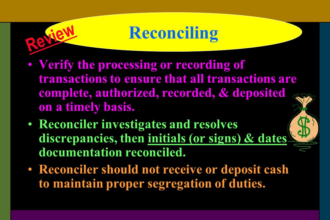 Reconciling Reconciling Review