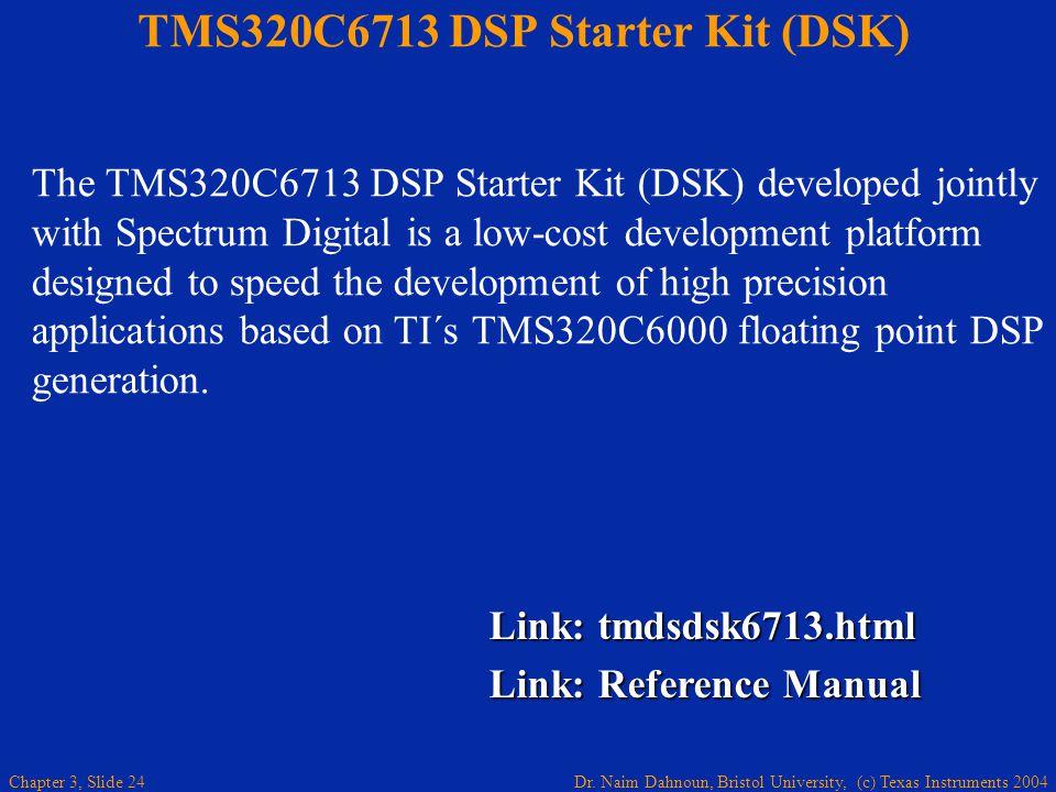 TMS320C6713 DSP Starter Kit (DSK)