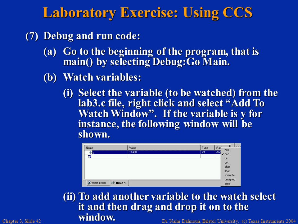 Laboratory Exercise: Using CCS