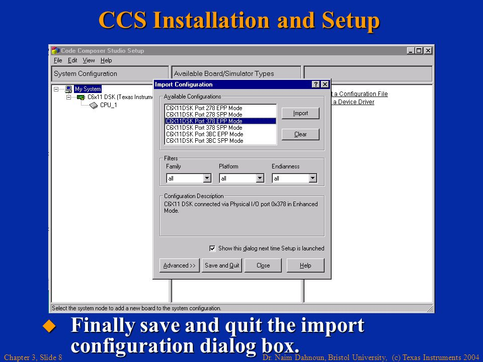 CCS Installation and Setup
